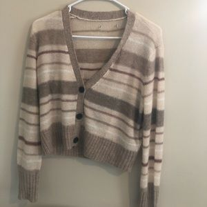 Urban outfitters striped button cardigan
